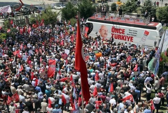 CHP'liler ile polis arasında arbede çıktı