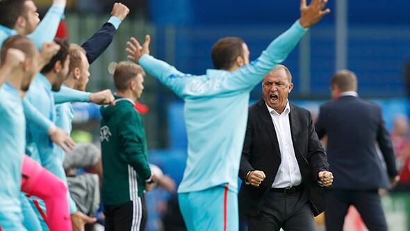 Çek Cumhuriyeti - Türkiye maçında kareler...