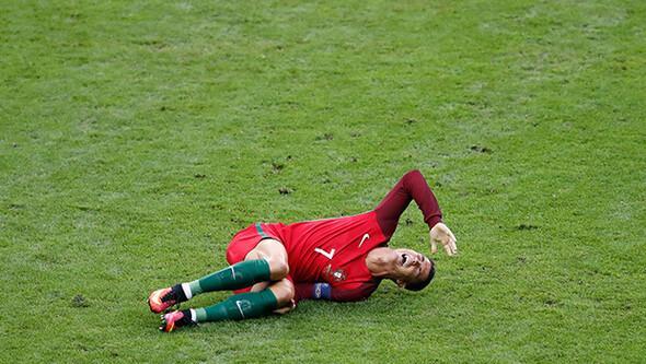 Ronaldo final maçında gözyaşlarına boğuldu