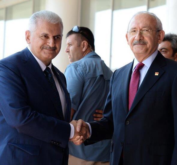 Başbakan Yıldırım CHP Genel Merkezi'nde