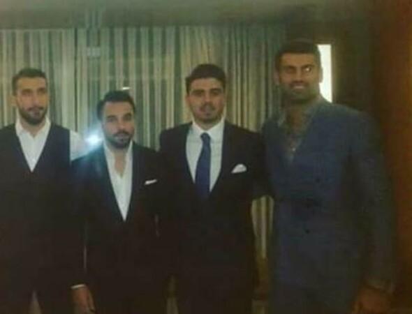Ozan Tufan'ın nişanına Fenerbahçeli futbolcular da katıldı