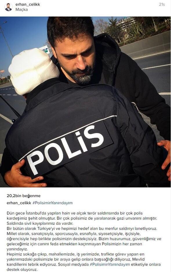 Polisimin yanındayım