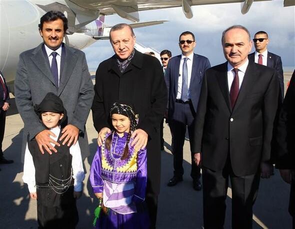 Cumhurbaşkanı Erdoğan ve Katar Emiri Al Sani Trabzonda