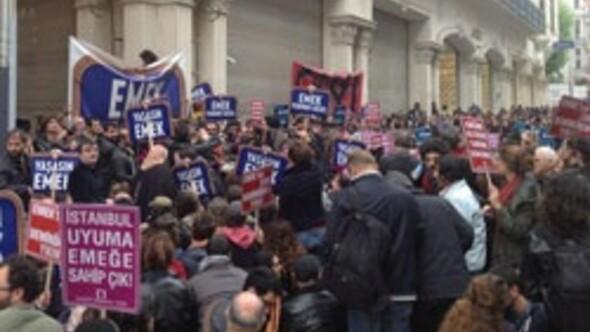 Taksimde Emek eylemi