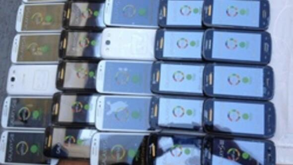 20 milyon liralık kaçak cep telefonu