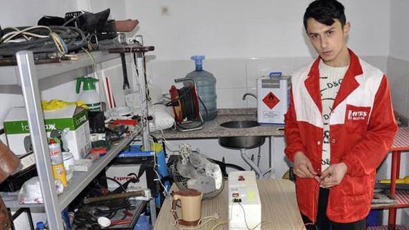 Amasyada genç kasaptan elektrik üreten motor