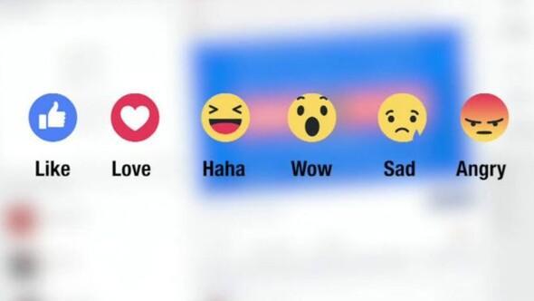 Facebookta beğen tuşuna ek emojiler geliyor