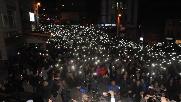 5 bin kişilik Cerattepe protestosu