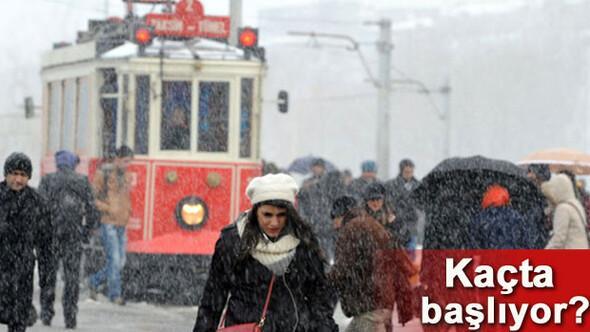 İstanbulda kar yağışı ne zaman başlayacak Yeni açıklama