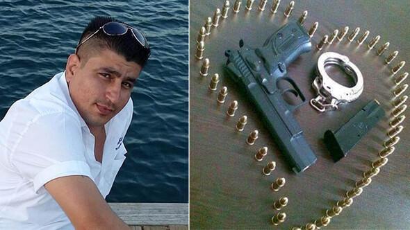 Aranıyor Facebooktan kelepçe ve silah fotoğrafı paylaşmış