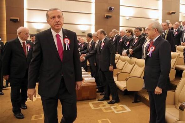 AYM töreninde Erdoğan ve Kılıçdaroğlu arasında gergin anlar