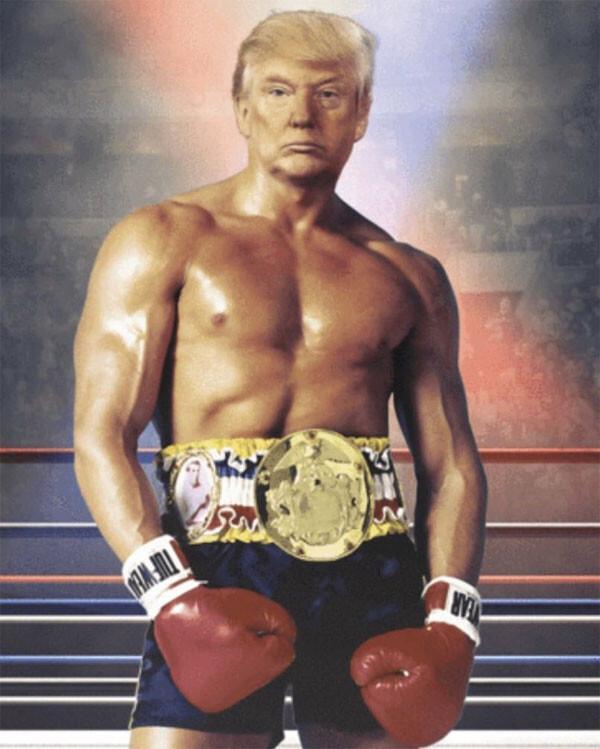 Trump'tan dikkat çeken paylaşım: Rocky Balboa