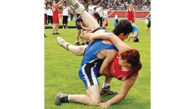 Kadın erkek güreşi