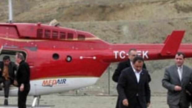 Yazıcıoğlu'nun helikopteri düştü