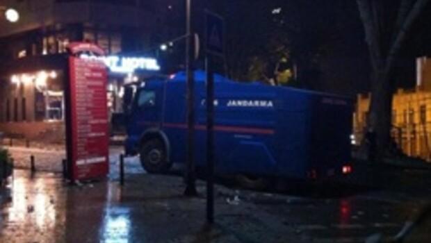Jandarma TOMA'sı da müdahalede