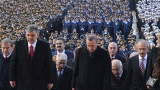 Anıtkabirde 29 Ekim töreni