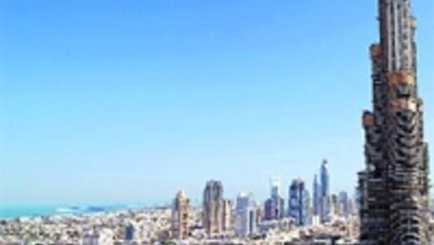 Dünyanın en yüksek binası Dubai Burcu