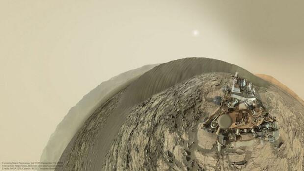 Curiosity Mars'tan selfie gönderdi