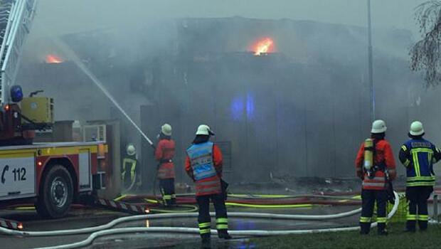 Almanya'nın Kehl kentinde korkutan yangın