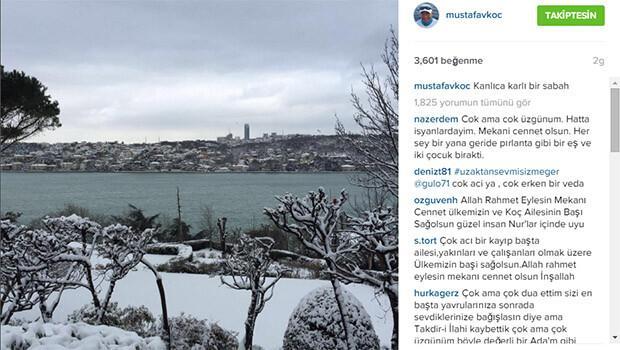 Mustafa Koç'un son Instagram paylaşımı