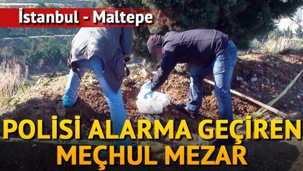 İstanbul'da polisinin mezar alarmı