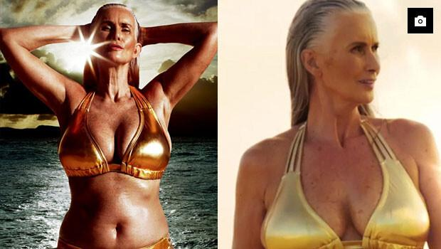 56 yaşında bikini modeli oldu