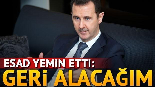 Esad: Tüm ülkeyi geri alacağım