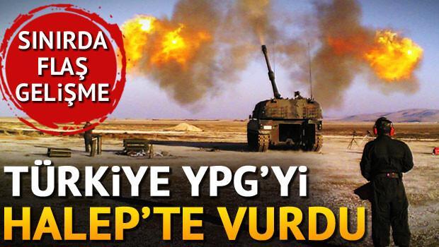 Türkiye YPG üssünü top ateşiyle vurdu