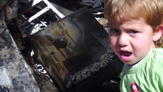 Adana'da bilgisayar patladı, 5 yaşındaki Cumali Karahan yanarak öldü