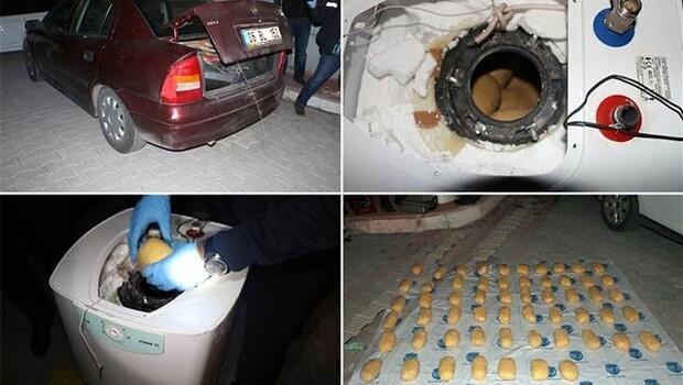 Astsubayın aracında 29 kilo eroin ele geçirildi