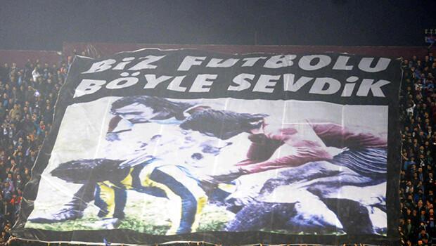Trabzon'da ilginç Fenerbahçe pankartı!