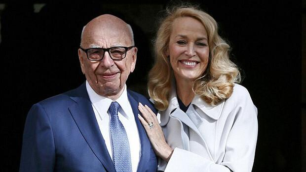 Rupert Murdoch ve Jerry Hall evlendi