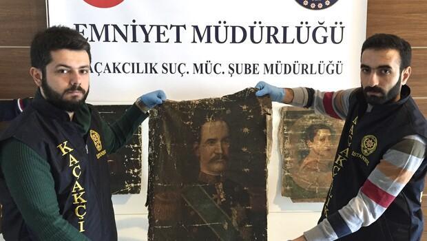 İstanbulda kaçak tablo operasyonu