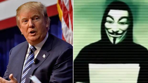 Anonymous'un hedefi bu kez Trump!