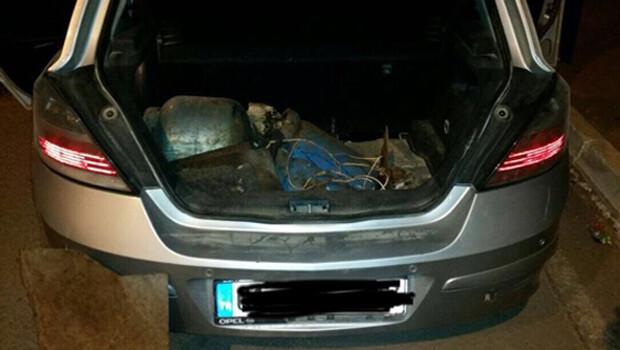 Diyarbakır Hani'de bomba yüklü araç yakalandı