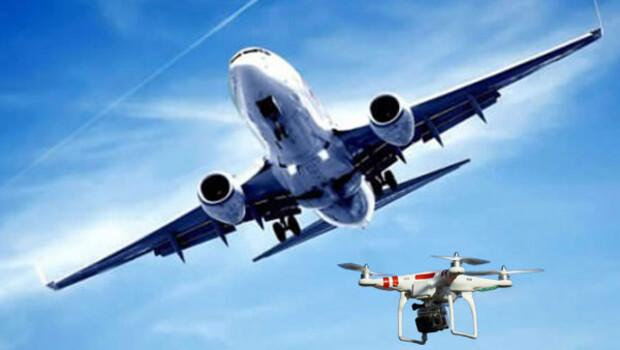 Atatürk Havalimanı'na iniş yapan uçağın altından drone geçti