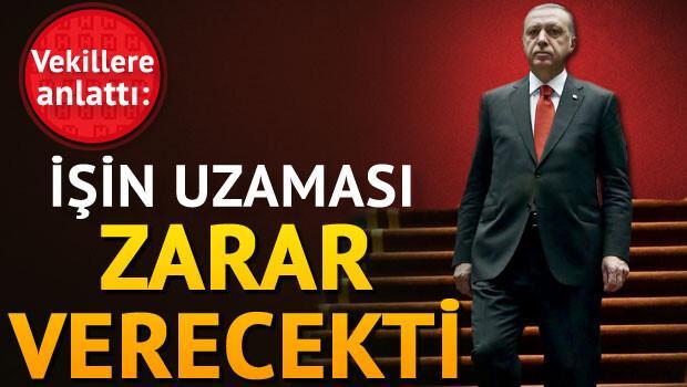 Erdoğan AK Partili vekillere anlattı