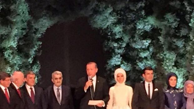 Erdoğan'dan nikahta duygusal konuşma