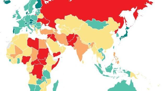 Türkiye huzur sıralamasında 145'inci ülke oldu!