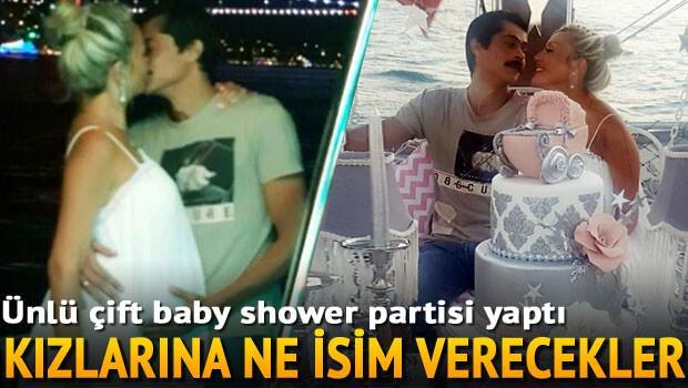 İsmail Hacıoğlu ile eşi doğacak bebekleri için baby shower partisi yaptı