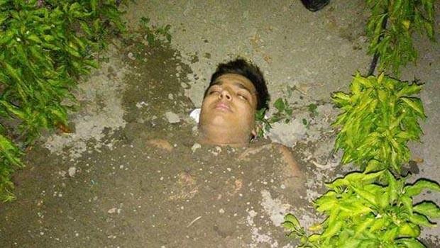 Akıma kapılan genç toprağa gömülerek kurtarıldı