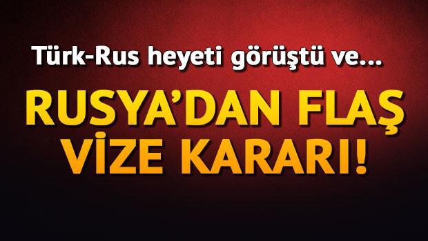 Rusya: Türk vatandaşlarına yönelik vize kısıtlamalarını kaldırabiliriz