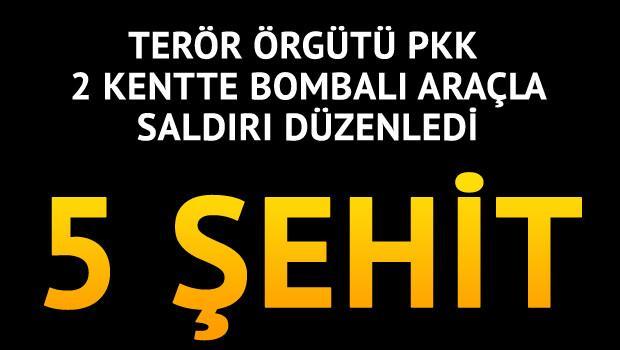 PKK 2 kentte saldırı düzenledi: 5 şehit