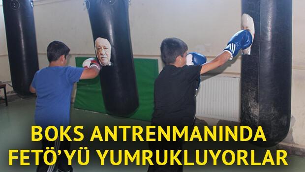 Boks idmanında Fetullah Gülen'i yumrukluyorlar