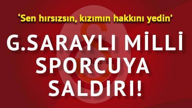 Galatasaraylı yüzücüye saldırı!