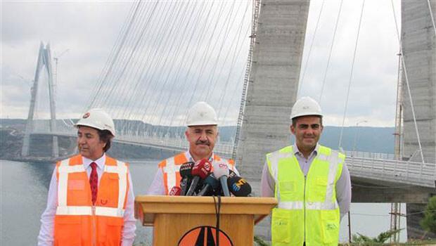 Bakan'dan Yavuz Sultan Selim Köprüsü'yle ilgili önemli açıklama