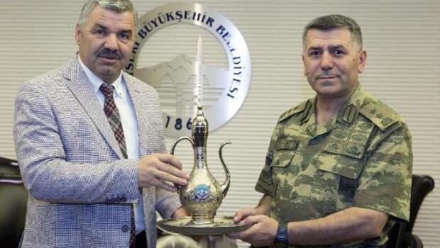 Tümgeneral Aydın, Kayseri'ye veda etti