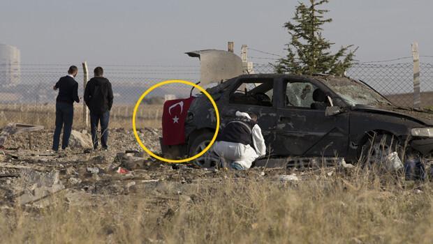 Teröristler kamufle olmak için otomobile Türk Bayrağı asmış