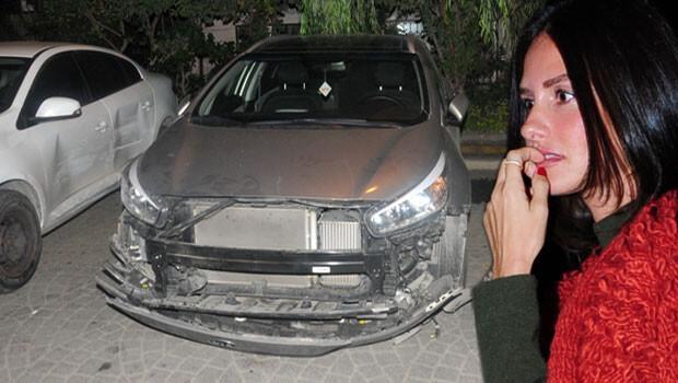 Yasemin Özilhan kaza yaptı