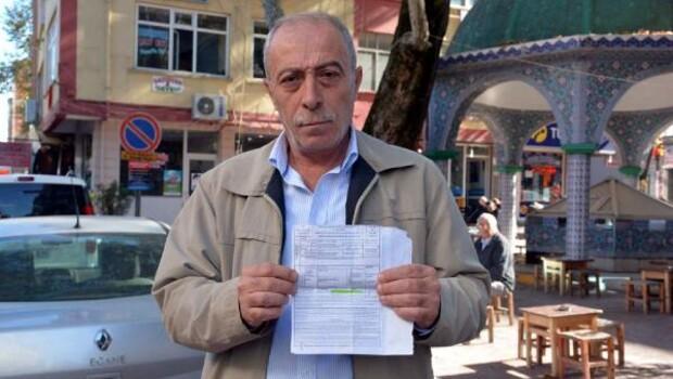 Erbaalı emekliye hiç gitmediği şehirden trafik cezası